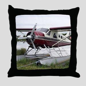 Float plane, Lake Hood, Anchorage, Al Throw Pillow