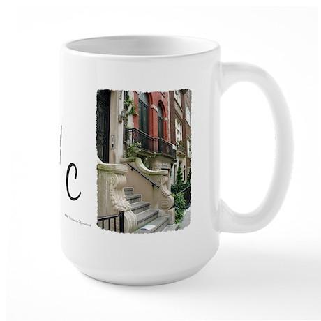 Row House in NYC Large Mug