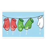 Drying Mittens Postcards (Package of 8)