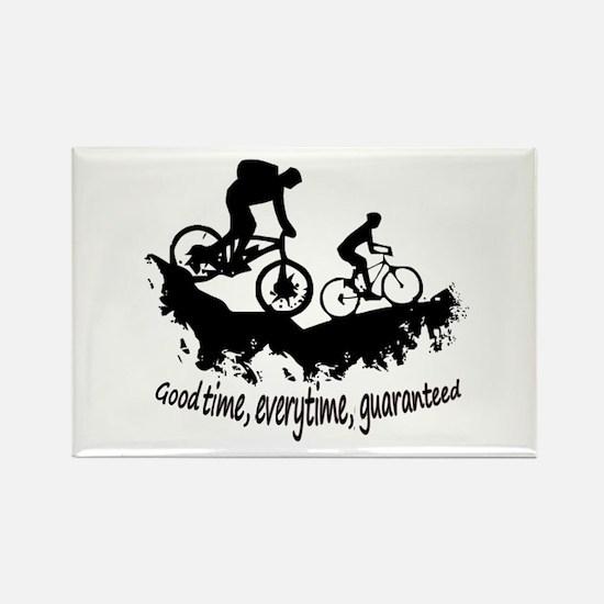 Mountain Biking Good Time Inspirational Qu Magnets