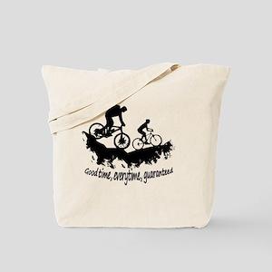 Mountain Biking Good Time Inspirational Q Tote Bag