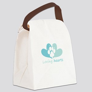 lovign hearts Canvas Lunch Bag