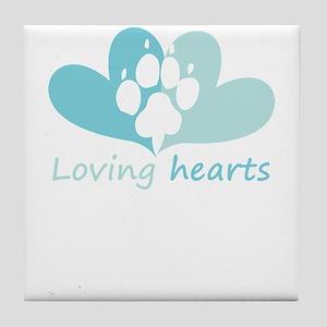 lovign hearts Tile Coaster