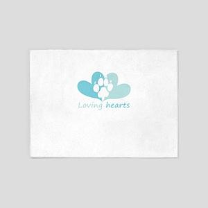 lovign hearts 5'x7'Area Rug