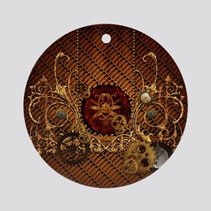 Steampunk, elegant design with clocks and gears Ro