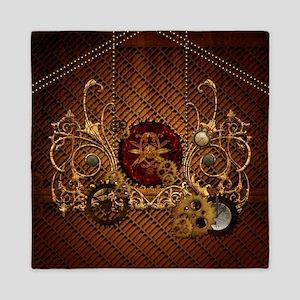 Steampunk, elegant design with clocks and gears Qu
