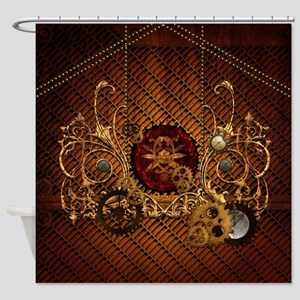 Steampunk, elegant design with clocks and gears Sh