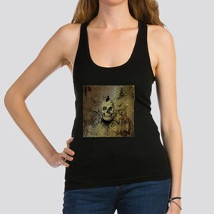 Skull and crow with floral elements Tank Top