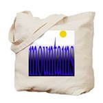 305b. mountains [color] Tote Bag
