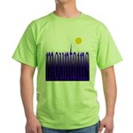 305b. mountains [color] Green T-Shirt
