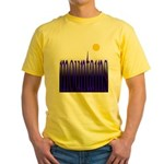 305b. mountains [color] Yellow T-Shirt