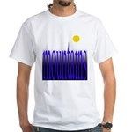 305b. mountains [color] White T-Shirt