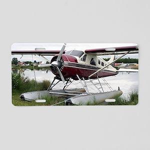 Float plane, Lake Hood, Anc Aluminum License Plate