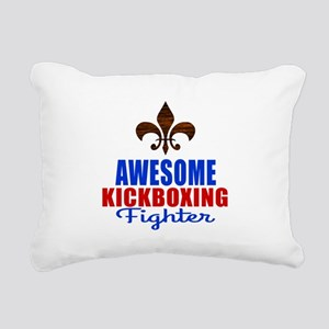Awesome Kickboxing Fight Rectangular Canvas Pillow