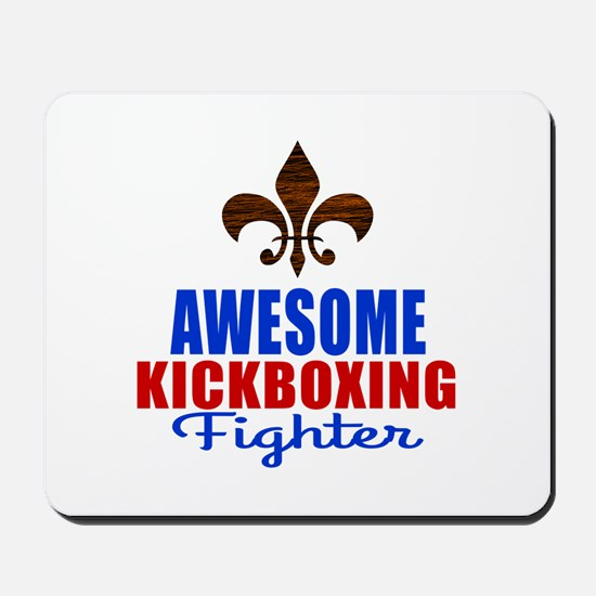 Awesome Kickboxing Fighter Mousepad