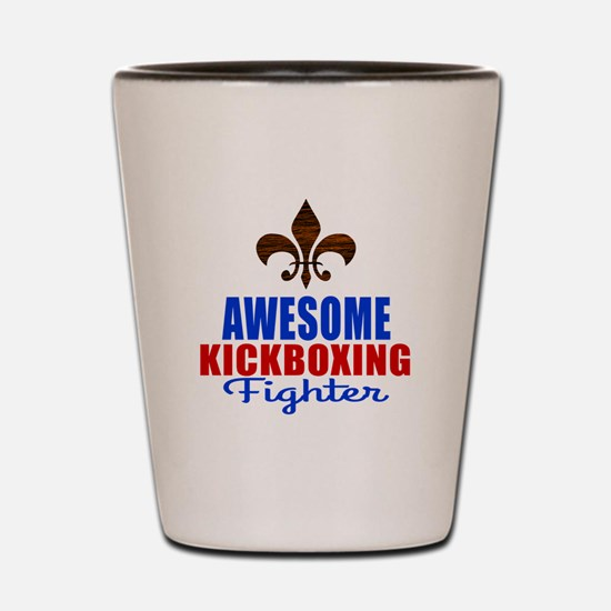 Awesome Kickboxing Fighter Shot Glass