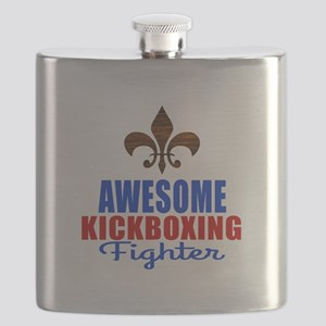 Awesome Kickboxing Fighter Flask