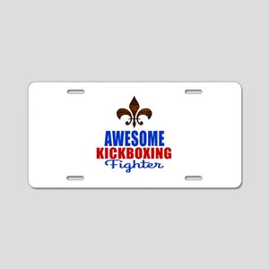 Awesome Kickboxing Fighter Aluminum License Plate