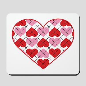 Argyle Heart Mousepad