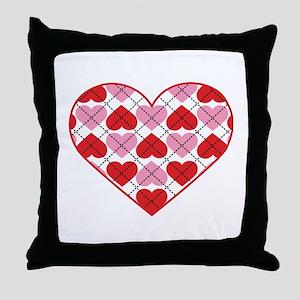 Argyle Heart Throw Pillow