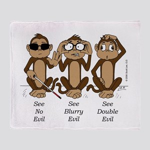 See No Evil Throw Blanket