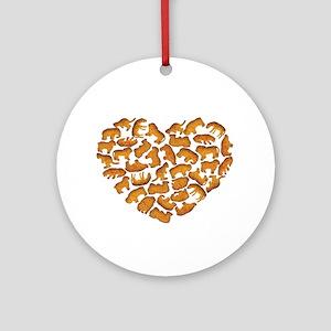 Animal Crackers Round Ornament