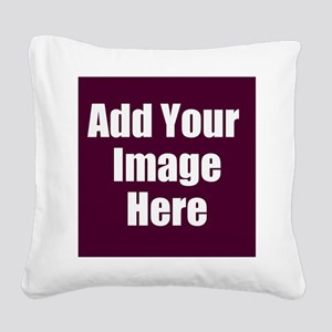 Add Your Image Here Square Canvas Pillow