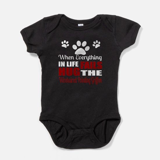 Hug The Wirehaired Pointing Griffon Baby Bodysuit