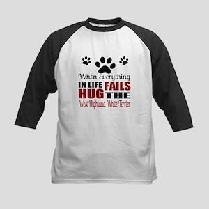 Hug The West Highland White T Kids Baseball Jersey