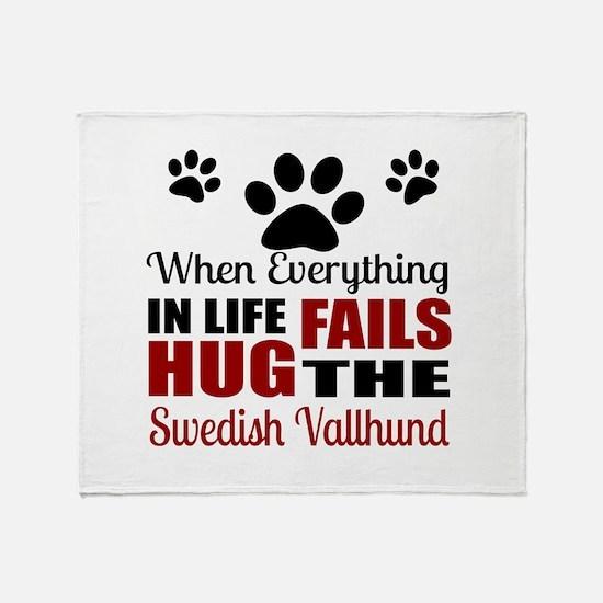 Hug The Swedish Vallhund Throw Blanket