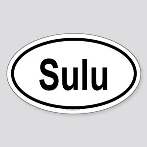 SULU Oval Sticker