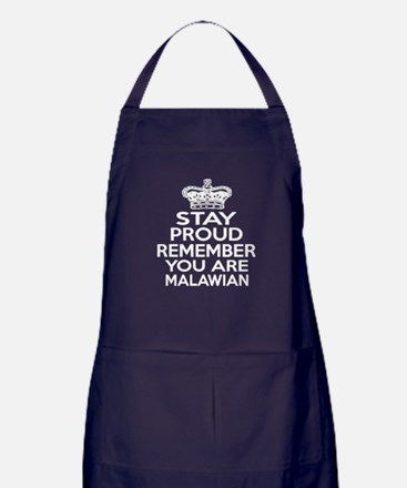 Stay Proud Remember You Are Malawian Apron (dark)