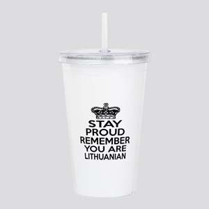 Stay Proud Remember Yo Acrylic Double-wall Tumbler