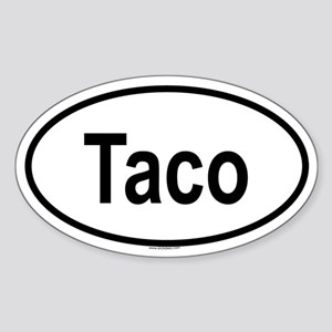 TACO Oval Sticker
