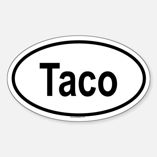 TACO Oval Decal
