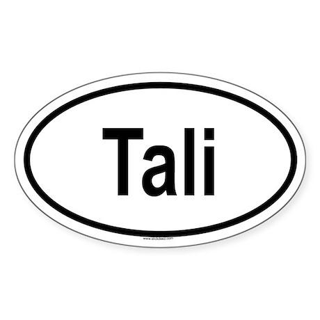 TALI Oval Sticker
