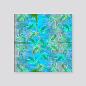 "Opal Dragonfly Flight Square Sticker 3"" x 3"""