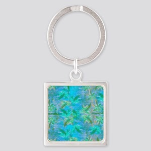 Opal Dragonfly Flight Square Keychain