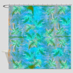 Opal Dragonfly Flight Shower Curtain