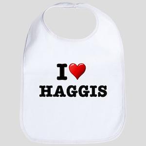 I LOVE - HAGGIS Baby Bib
