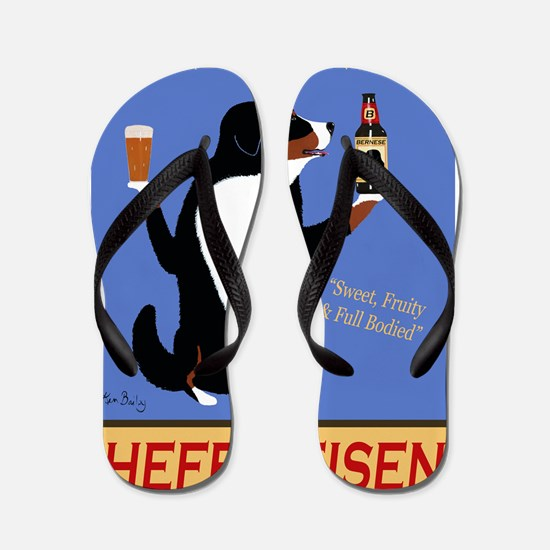Bernese Hefeweisen Flip Flops