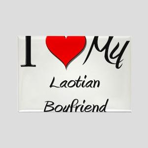 I Love My Laotian Boyfriend Rectangle Magnet
