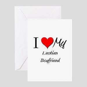 I Love My Laotian Boyfriend Greeting Card