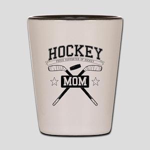 Hockey mom Shot Glass