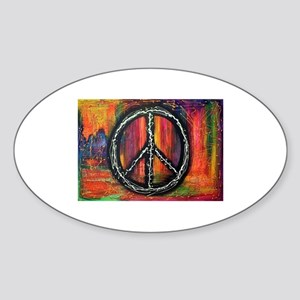 Rustic peace Sticker