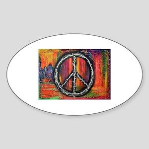 Rustic peace Sticker