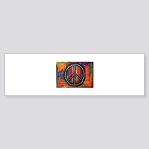 Rustic peace Bumper Sticker