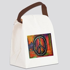 Rustic peace Canvas Lunch Bag