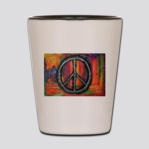 Rustic peace Shot Glass