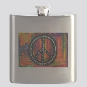 Rustic peace Flask